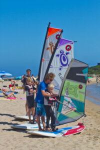Corsi Windsurf Cala Sinzias in Sardegna
