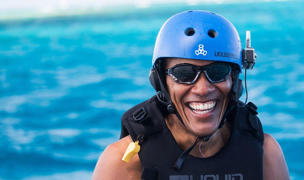 Obama dopo la kite session