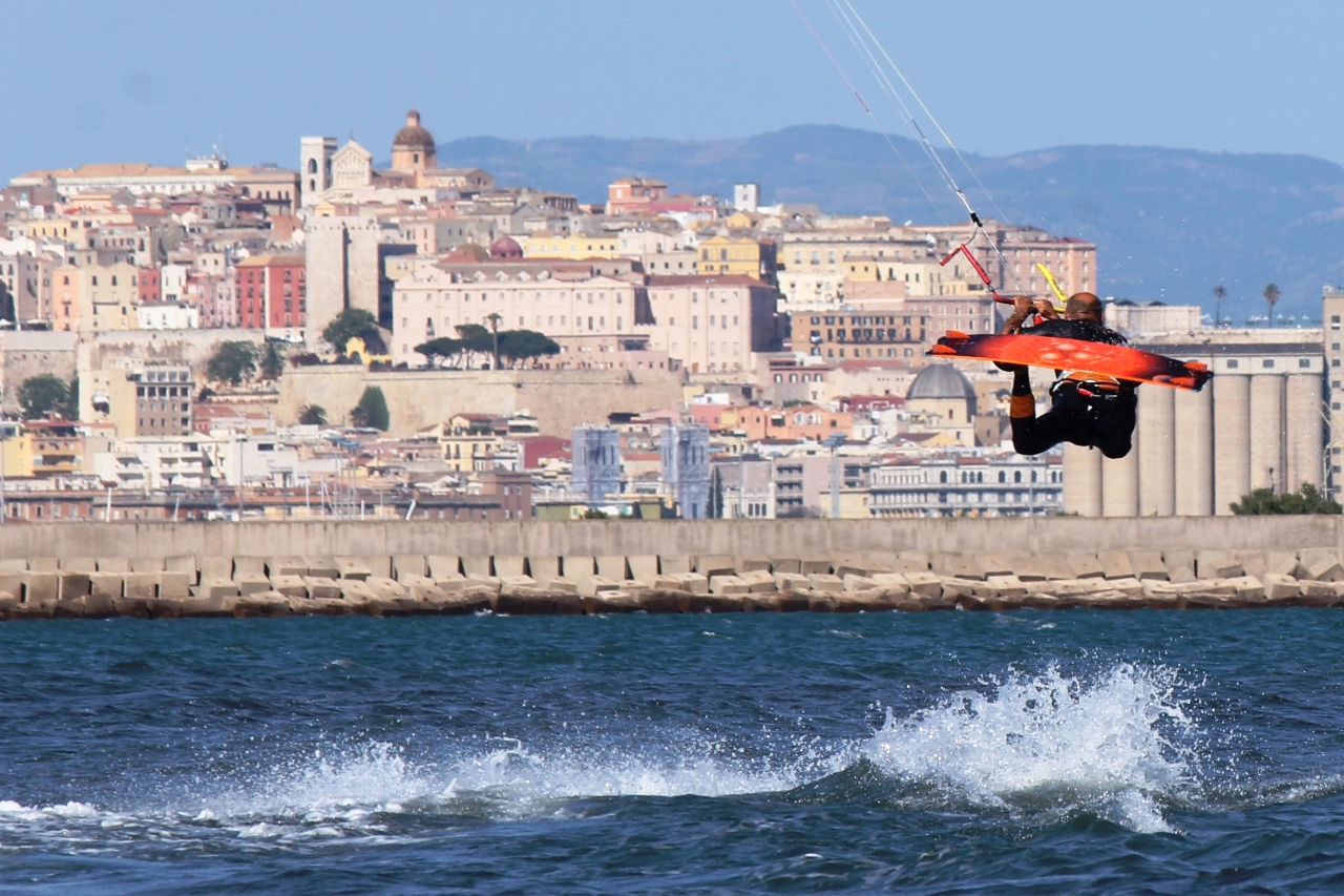 Kitesurf a Giorgino, Cagliari Mauro Todesco