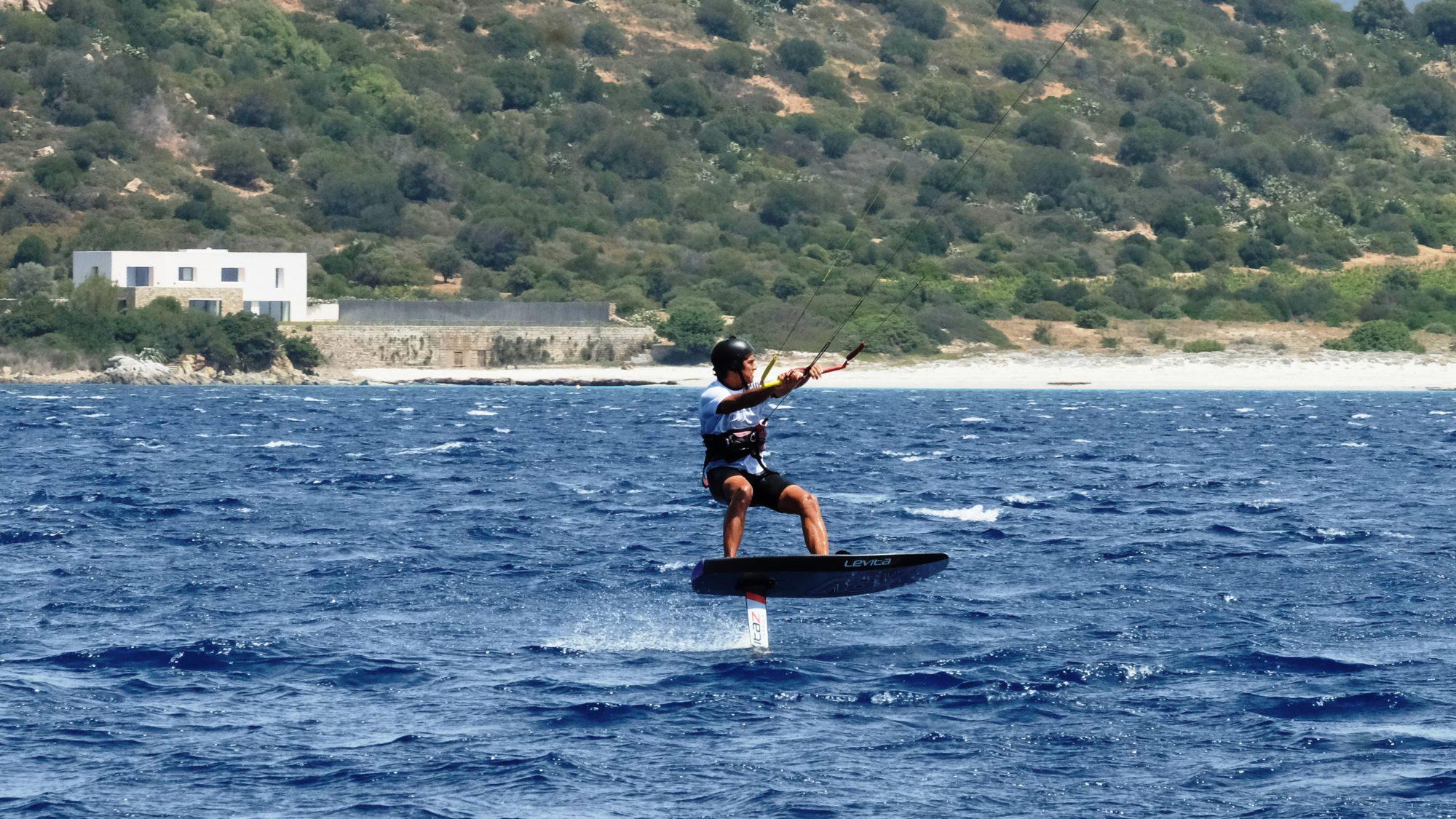 Kite a Villasmius Sardegna con Hydrofoil Lucas Rey 10 Maggio 2017