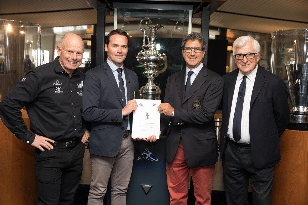 Coppa America 2021 Annuncio protocollo 36a america-s cup 28 Settembre 2017